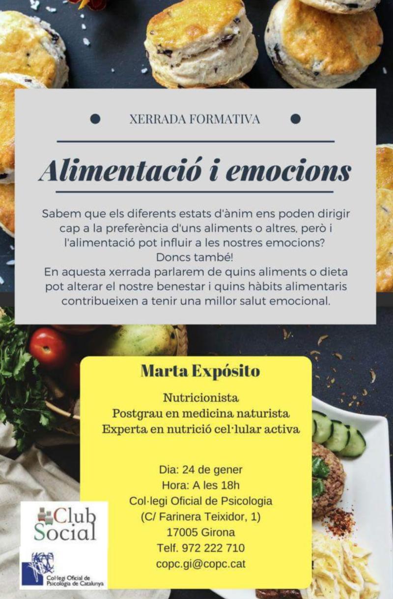 Xerrada formativa: Alimentació i emocions